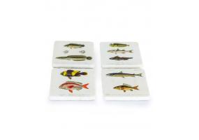 Set of 4 Fish Design Coasters
