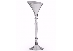 Large Polished Aluminium Champagne Bucket on Stand
