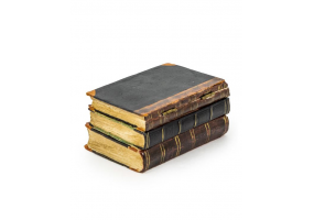 Antiqued 3 Book Small Storage Box