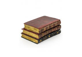 Antiqued 3 Book Large Storage Box