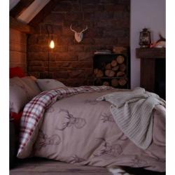 Catherine Lansfield Stag Head Print Bedding