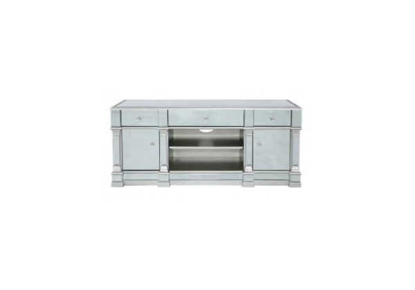 Apollo Silver Mirrored Medium TV Entertainment Unit