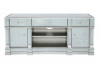 Apolco Silver Mirrored Medium TV Entertainment Unit