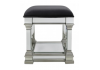 Apolco Silver Mirrored Stool