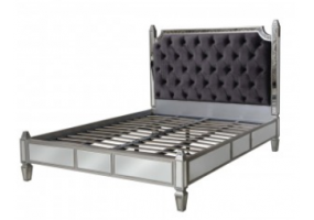 Apolco Silver Mirrored King Size Bed Frame