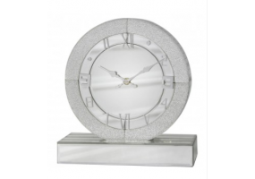 Large Ariana Champagne Sparkle Round Table Clock
