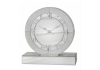 Large Arena Champagne Sparkle Round Table Clock