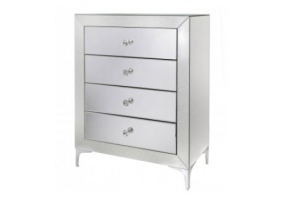 Arena Champagne Sparkle 4 Drawer Cabinet