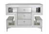 Arena Champagne Sparkle 3 Drawer Cabinet