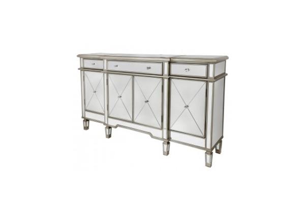 Bellmont Gold 3 Drawer 4 Door Mirror Cabinet