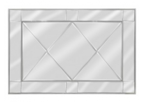 Bellmont Silver Wall Mirror