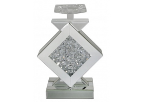 Azztoria White Mirror Diamond Candle Holder