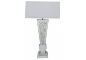 Azztoria White Mirror 'V' Shape Table Lamp