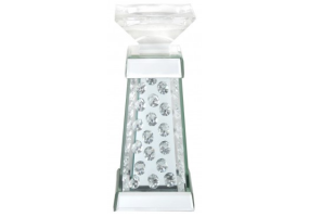 Azztoria Mirror Pillar Candle Holder - Medium Prism