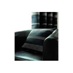 Arlington Black/ Silver Grey Stripe Cushion Cover