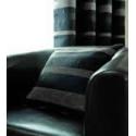 Arlington Black/ Silver Grey Stripe Cushion Cover