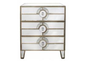 Gatzby Antique Mirror Bedside Cabinet