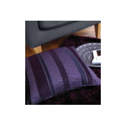 Arlington Purple/ Plum Stripe Cushion Cover
