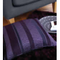 Arlington Purple/ Plum Stripe Cushion Cover