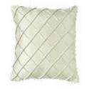 Silk Beaded Cross Stitch Pattern Cushion Cover - Cream