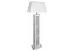 Millanno Mirror Brick Floor Lamp With White Shade
