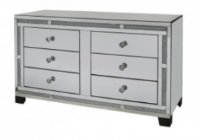 Millanno Mirror 6 Drawer Cabinet