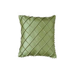 Silk Beaded Cross Stitch Pattern Cushion Cover - Moss