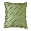 Silk Beaded Cross Stitch Pattern Cushion Cover - Moss