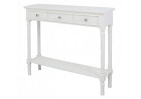 Medium White Detta 3 Drawer Console Table