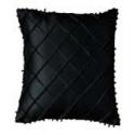 Silk Beaded Cross Stitch Pattern Cushion Cover - Black