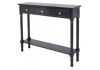 Medium Black Detta 3 Drawer Console Table