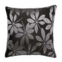 Leaf Design Cushion Cover - Black and Grey