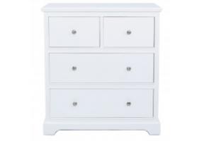 Value Detta White 4 Drawer Cabinet