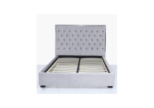 Grey Monaco King Size Bed Frame