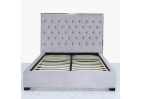 Grey Monaco Double Size Bed Frame