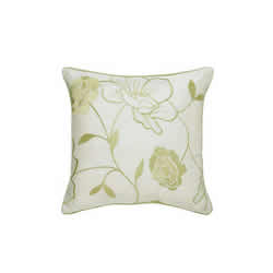 Chloe Cushion Cover - Green and Ivory