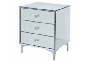 Saha Mirror 3 Drawer Bedside Cabinet