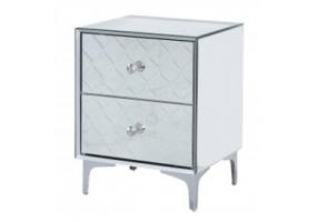 Saha Mirror 2 Drawer Bedside Cabinet