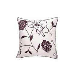 Chloe Cushion Cover - Ivory and Plum