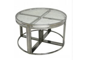 Silver Faux Snakeskin Coffee Table
