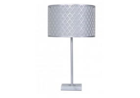 Medium Silver Metal & Marble Table Lamp