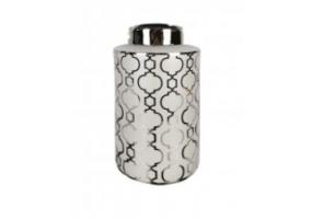 Morocco Silver Large Round Ginger Jar