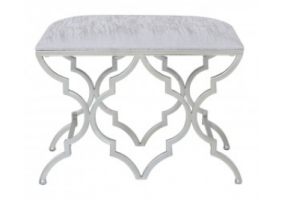 Morocco Silver Bedroom Stool
