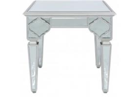 Morocco Silver Mirror End Table