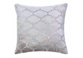 Morocco Patterned Pink Velvet Cushion