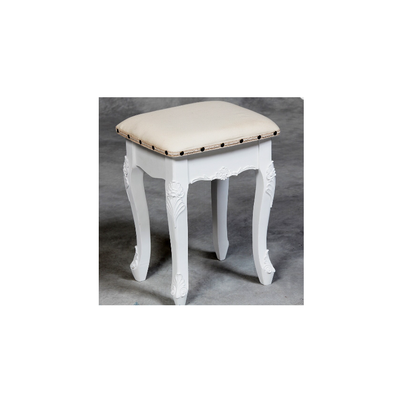 small white dressing table stool forever furnishings. Black Bedroom Furniture Sets. Home Design Ideas