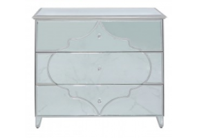Morocco Silver Mirror 3 Drawer Chest