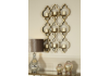 Morocco Gold 9 Tealight Wall Sconce