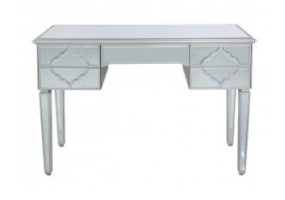 Morocco Silver Mirror 5 Drawer Dressing Table