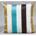 Large Stripe Sateen Finish Cushion - Aqua